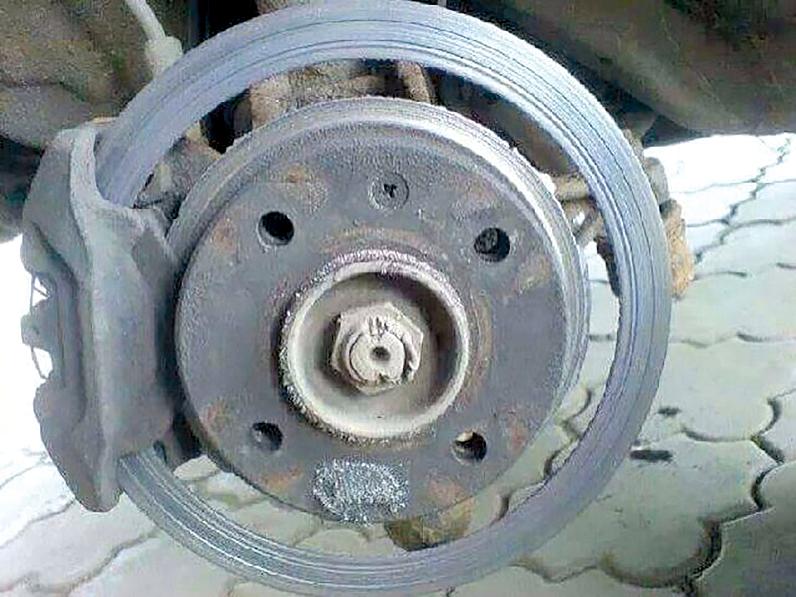 Abgenutzte Bremsscheibe