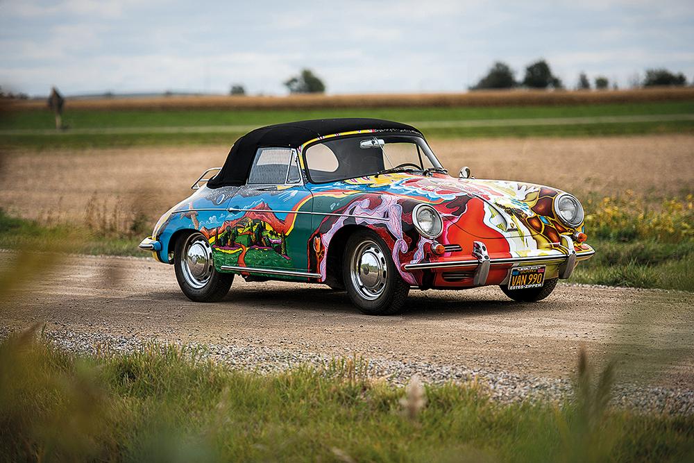 Das komplett handbemalte 356 SC Cabrio von Hippie-Legende Janis Joplin kommt unter den Hammer